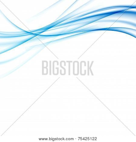 Blue Modern Abstract Lines Swoosh Certificate