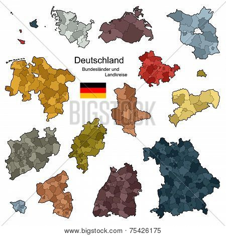 Provinces And Districts Of Germany