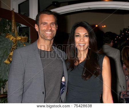 LOS ANGELES - NOV 4:  Cameron Mathison, Vanessa Arevalo at the Hallmark Channel's