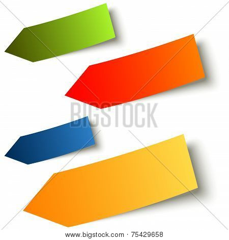 Collection - Colorful Sticky Notes Arrow