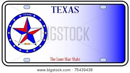 Texas Auto License Plate