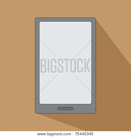 Tablet Ereader For Books Smartphone Icon Flat Design