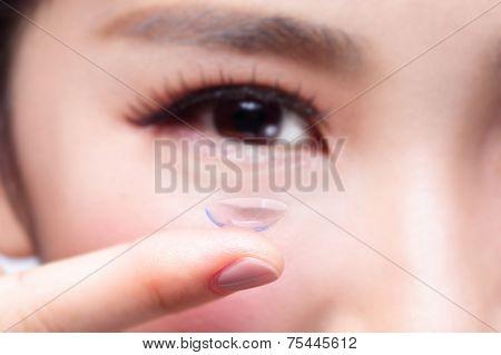 Human Eye And Contact Lens