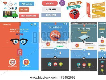 Web graphics and web templates