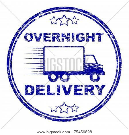 Overnight Delivery Stamp Shows Next Day And Courier