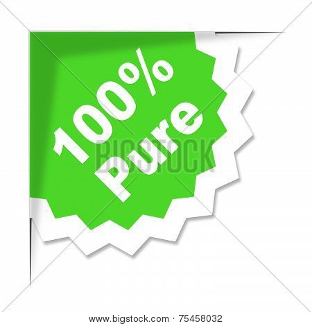 One Hundred Percent Indicates Organic Products And Completely