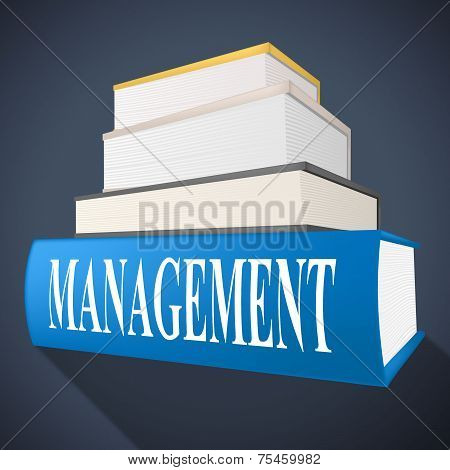 Management Book Represents Bosses Company And Directorate