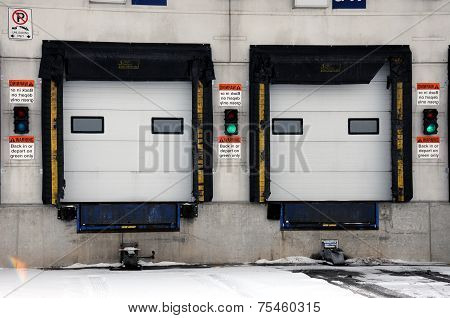 Shipping and Receiving bay doors