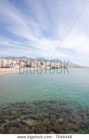 North Beach Of Sitges (barcelona, Spain)