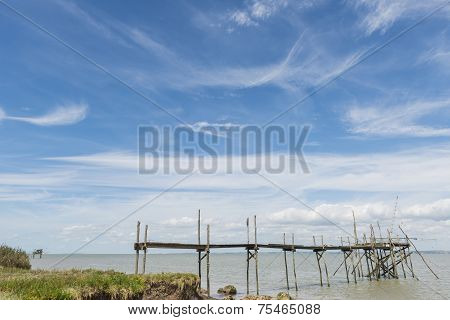 Two Jetties For Fishing In Gironde