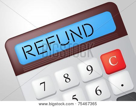 Refund Calculator Means Reimbursement Refunding And Return