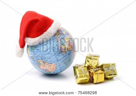Photo of Christmas world and gifts for celebrating Christmas around the world