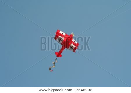 Red airplane kite