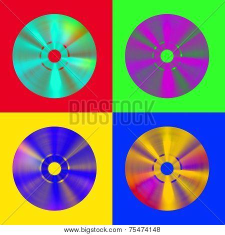 Pop-art Cd Discs