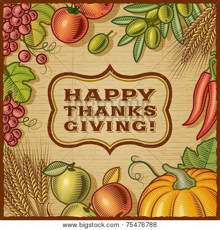 Thanksgiving Retro Card