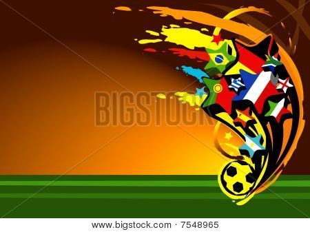 abstract vector illustration for football or soccer