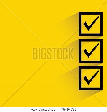 check box, right check mark vector