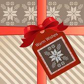 girt with tag christmas nordic  (layered)  poster