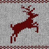 vector Christmas Background of Norwegian Knitting Patterns poster
