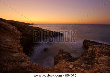 Cove at dusk