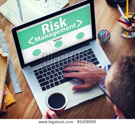 Digital Online Risk Management Office Working Concept