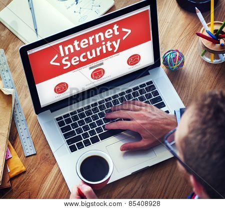 Digital Internet Security Protection Searching Concept