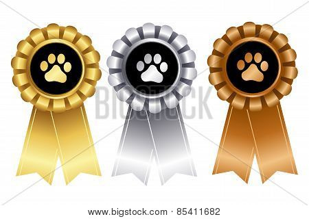 Dog Show Winner Ribbon Rosette