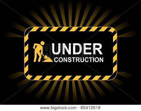 Under construction web background / landing page graphic poster
