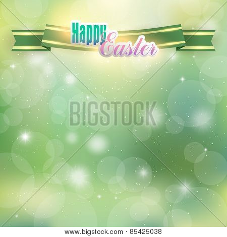 Easter background with ribbon