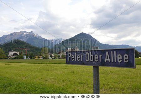 Peter Ober Allee in Interlaken