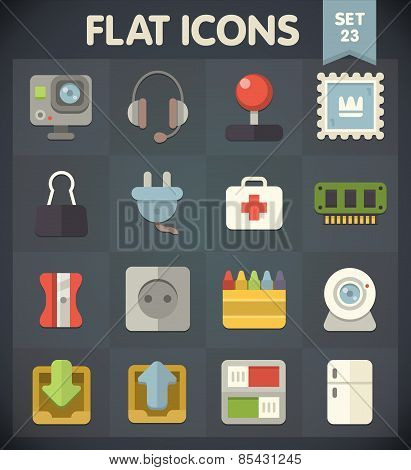 Flat Icons for Web and Mobile Applications Set 23