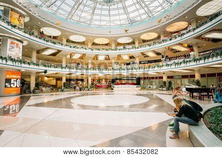 Stolitsa is a major shopping center in Minsk, Belarus