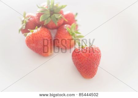 Fresh Ripe Strawberries On White Background