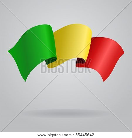 Malian waving Flag. Vector illustration