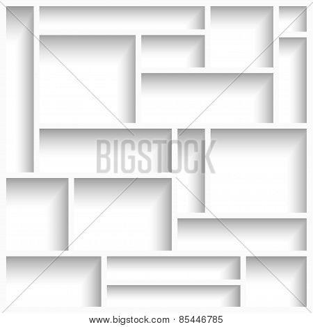 Empty White Modern Shelves