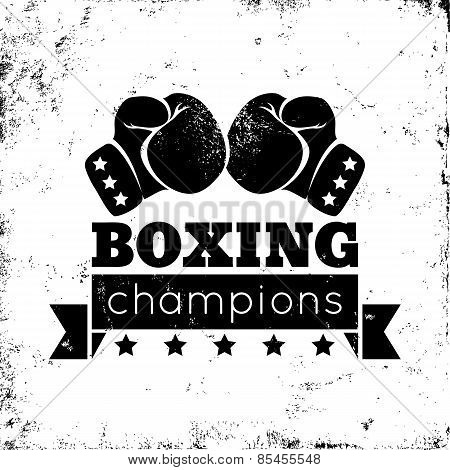 boxing on grunge background
