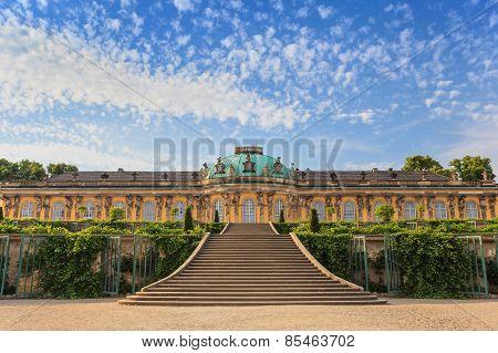 Sanssouci palace at Potsdam city of Germany poster