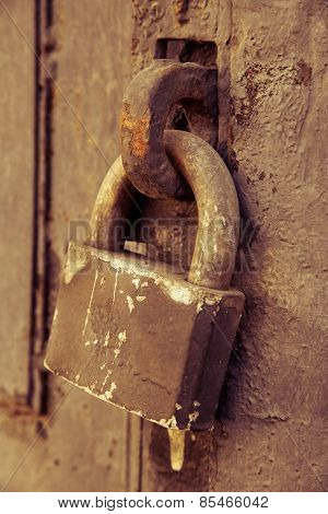 Old Rusty Doorlock