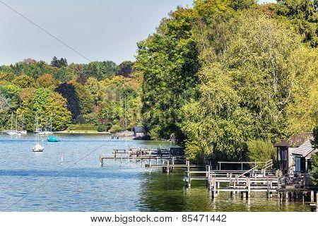 Riverside Lake Starnberg