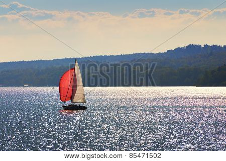 Sailboat On Lake Starnberg