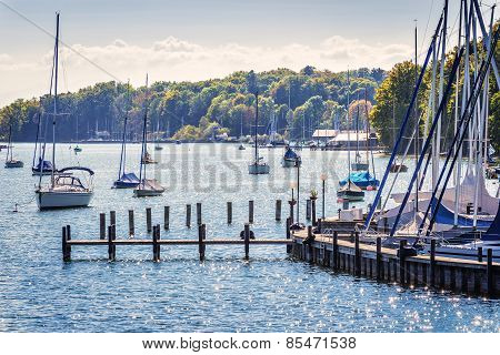 Sailboats On Lake Starnberg