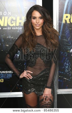 NEW YORK-MAR 9: Actress Genesis Rodriguez attends the premiere of