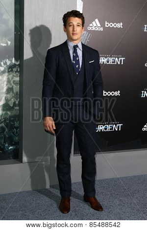 NEW YORK-MAR 16: Actor Miles Teller attends the U.S. premiere of
