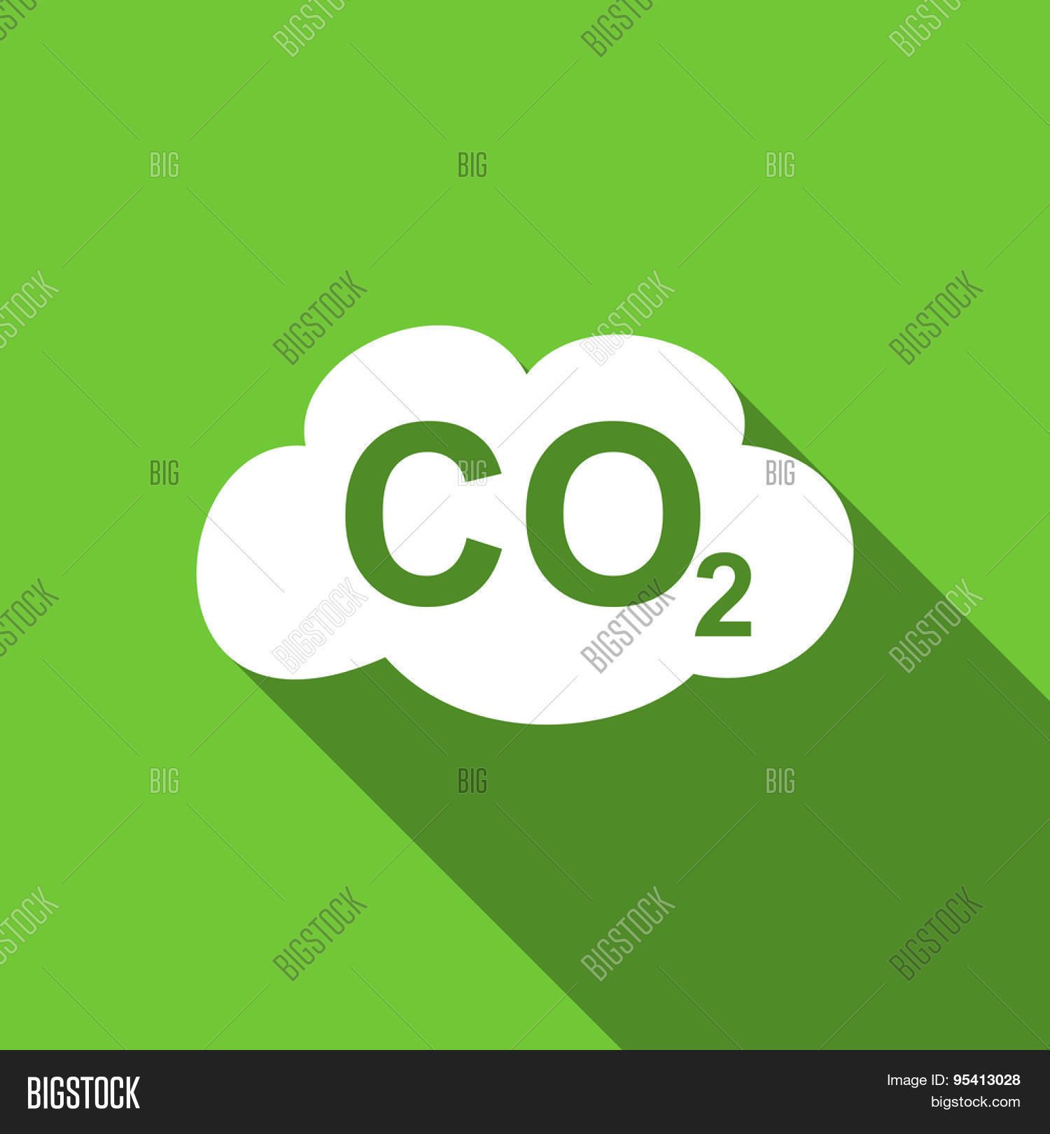 Carbon dioxide flat icon co2 sign image photo bigstock carbon dioxide flat icon co2 sign original modern design green flat icon for web and mobile buycottarizona Images