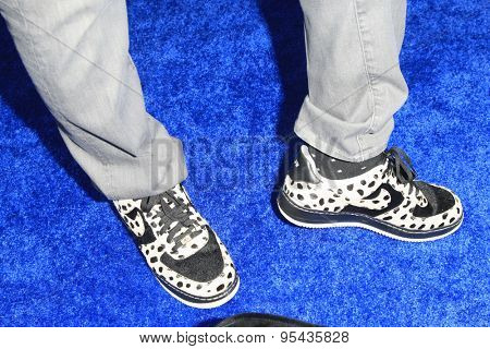 LOS ANGELES - JUN 8: Jerry Weintraub's Nike shoes at the Premiere of HBO's 'The Brink' at the Paramount Theater at Paramount Studios on June 8, 2015 in Los Angeles, CA