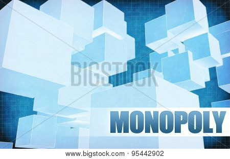 Monopoly on Futuristic Abstract for Presentation Slide
