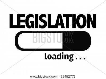 Progress Bar Loading with the text: Legislation