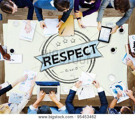 Respect Honesty Honorable Regard Integrity Concept poster