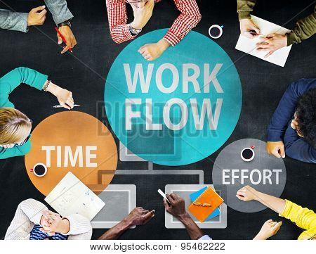 Workflow Effort Implement Efficiency Business Concept
