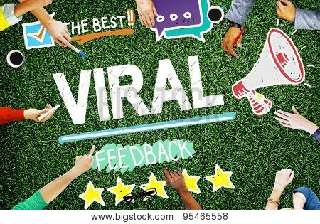 Viral Marketing Spread Review Event Feedback Concept poster
